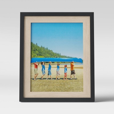 """8"""" x 10"""" Frame Black and Natural - Room Essentials™"""