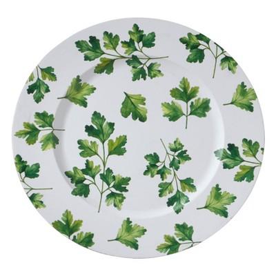 Saro Lifestyle Parsley Design Charger Plates (set of 4 pcs)