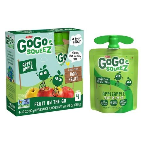 GoGo squeeZ Applesauce, Apple Apple - 3.2oz/4ct - image 1 of 4