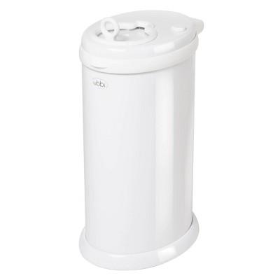 Ubbi Money Saving Gray No Special Bag Required Steel Odor Locking Diaper Pail