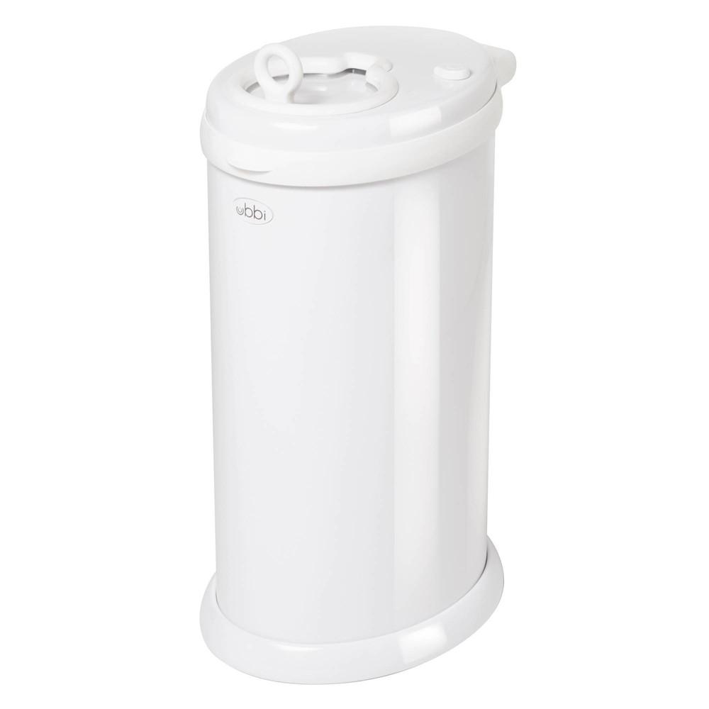 Image of Ubbi Steel Diaper Pail - White