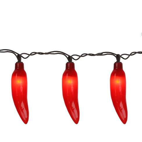 Northlight 35-Count Red Chili Pepper Patio String Light Set, 22.5ft Brown Wire - image 1 of 2
