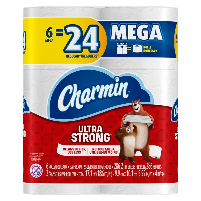 Charmin Ultra Strong Toilet Paper - 6 Mega Rolls