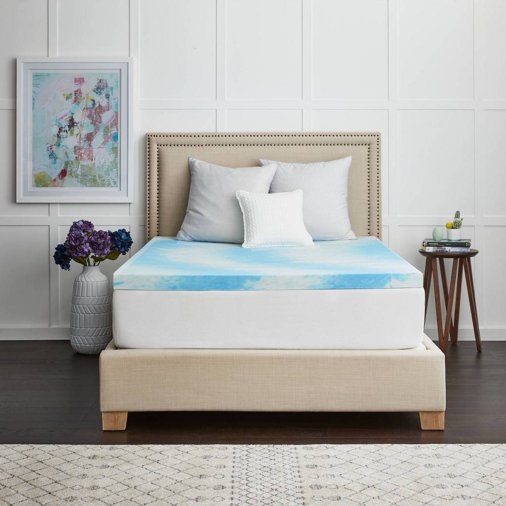 """Image of """"Full 3"""""""" Memory Foam Mattress Topper with Cover - Sealy, White"""""""