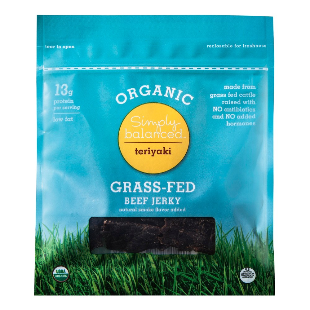 Organic Grass Fed Teriyaki Beef Jerky - Simply Balanced