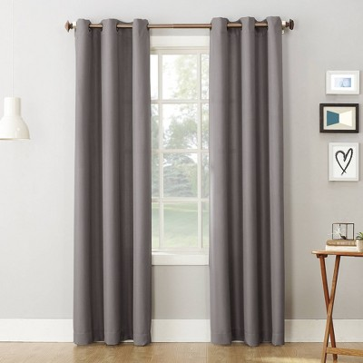 "63""x48"" Montego Casual Textured Grommet Top Light Filtering Curtain Panel Nickel - No. 918"