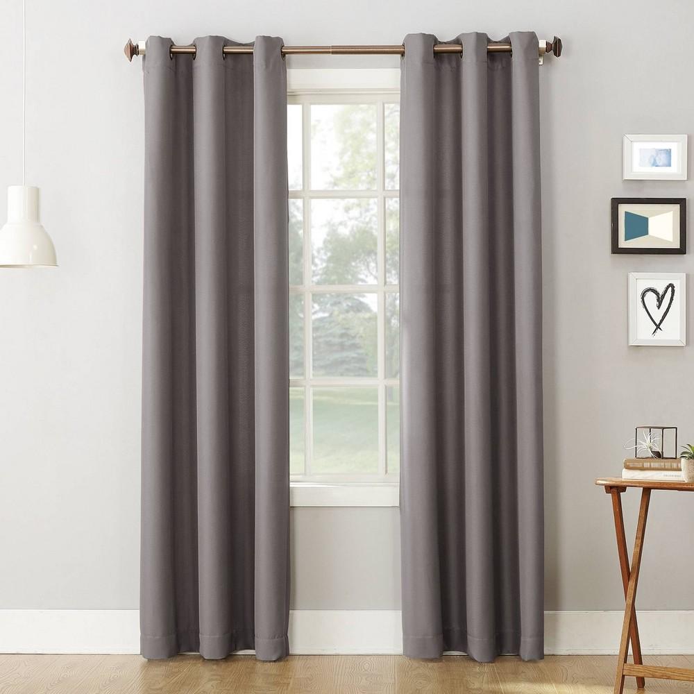 63 34 X48 34 Montego Casual Textured Grommet Top Light Filtering Curtain Panel Nickel No 918