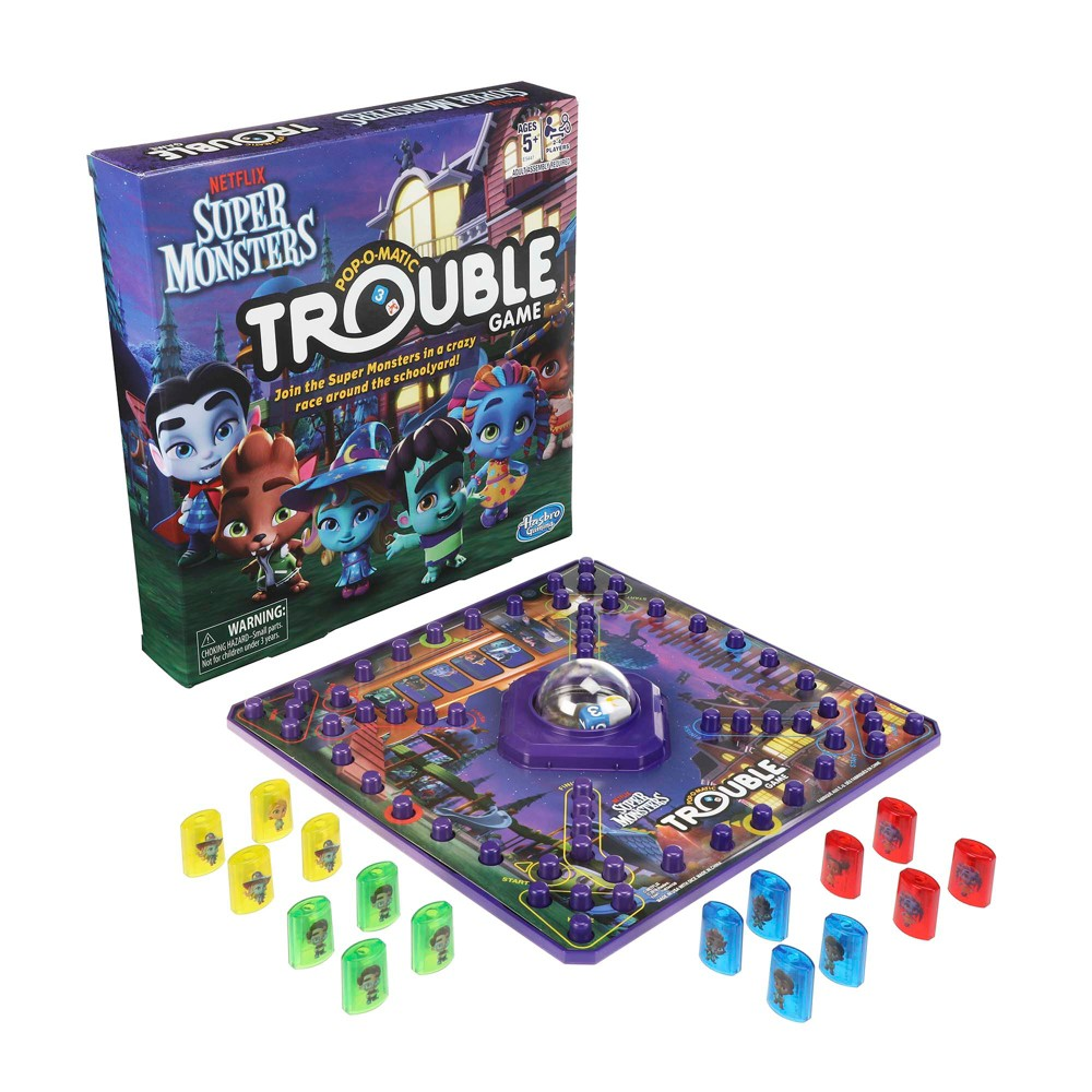 Trouble: Netflix Super Monsters Edition Board Game For Kids Ages 5+