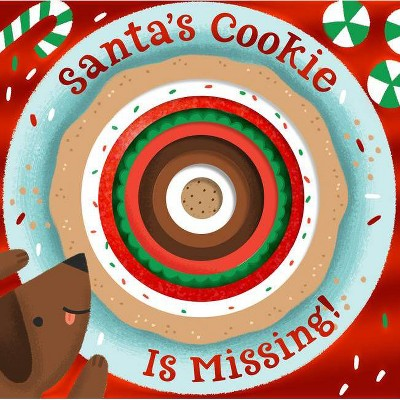 Santa's Cookie Is Missing! (Board Book with Die-Cut Reveals) - by Houghton Mifflin Harcourt