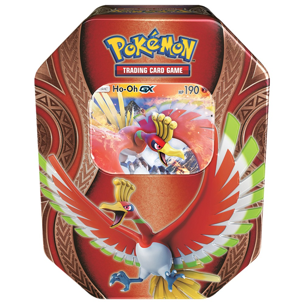 Pokemon GX Fall Tin Trading Card Game featuring Ho-Oh