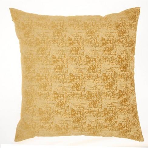 "22""x22"" Life Styles Erased Velvet Throw Pillow Mustard - Mina Victory - image 1 of 4"
