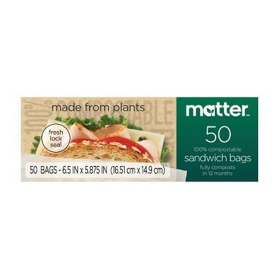 Matter 100% Compostable Sandwich Bags - 50ct