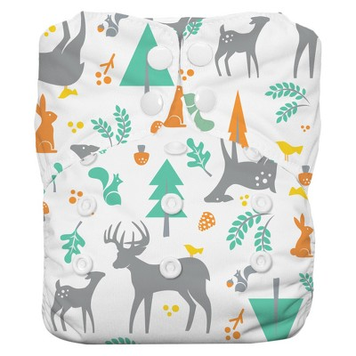 Thirsties All-in-One Snap Reusable Diaper, One Size - Woodland
