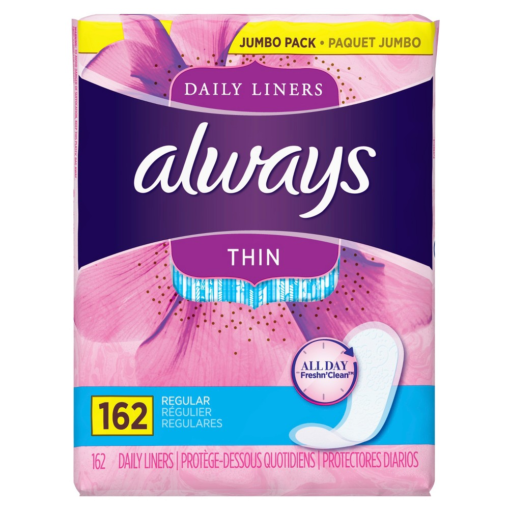 Always Thin Daily Liners - 162ct