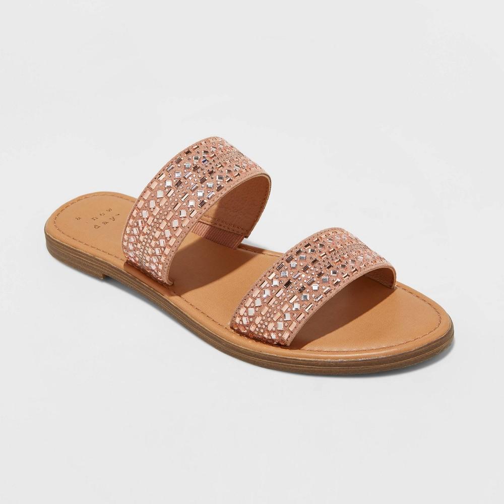 Women 39 S Kersha Embellished Slide Sandals A New Day 8482 Rose Gold 5