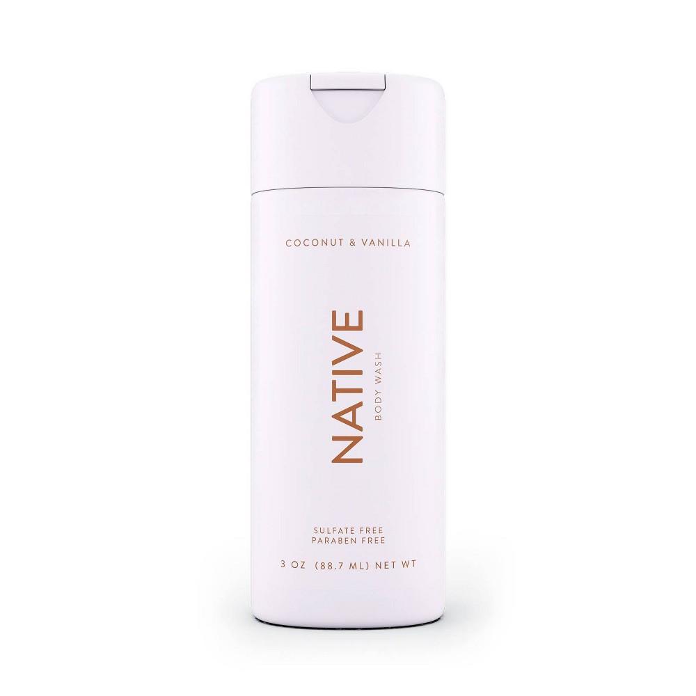 Image of Native Coconut and Vanilla Body Wash Mini - 3.0oz
