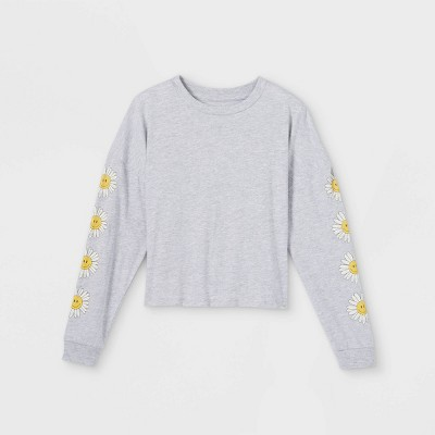 Girls' Boxy Graphic Long Sleeve T-Shirt - art class™