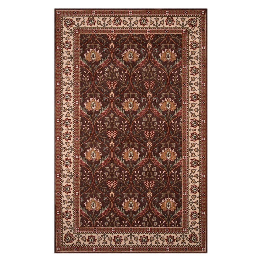 9'6X13' Floral Loomed Area Rug Cocoa (Brown) - Momeni