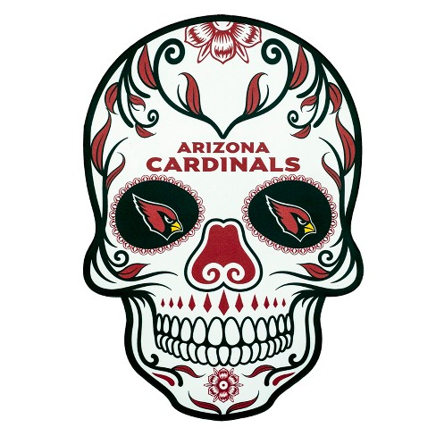 NFL Arizona Cardinals Small Outdoor Skull Decal - image 1 of 2