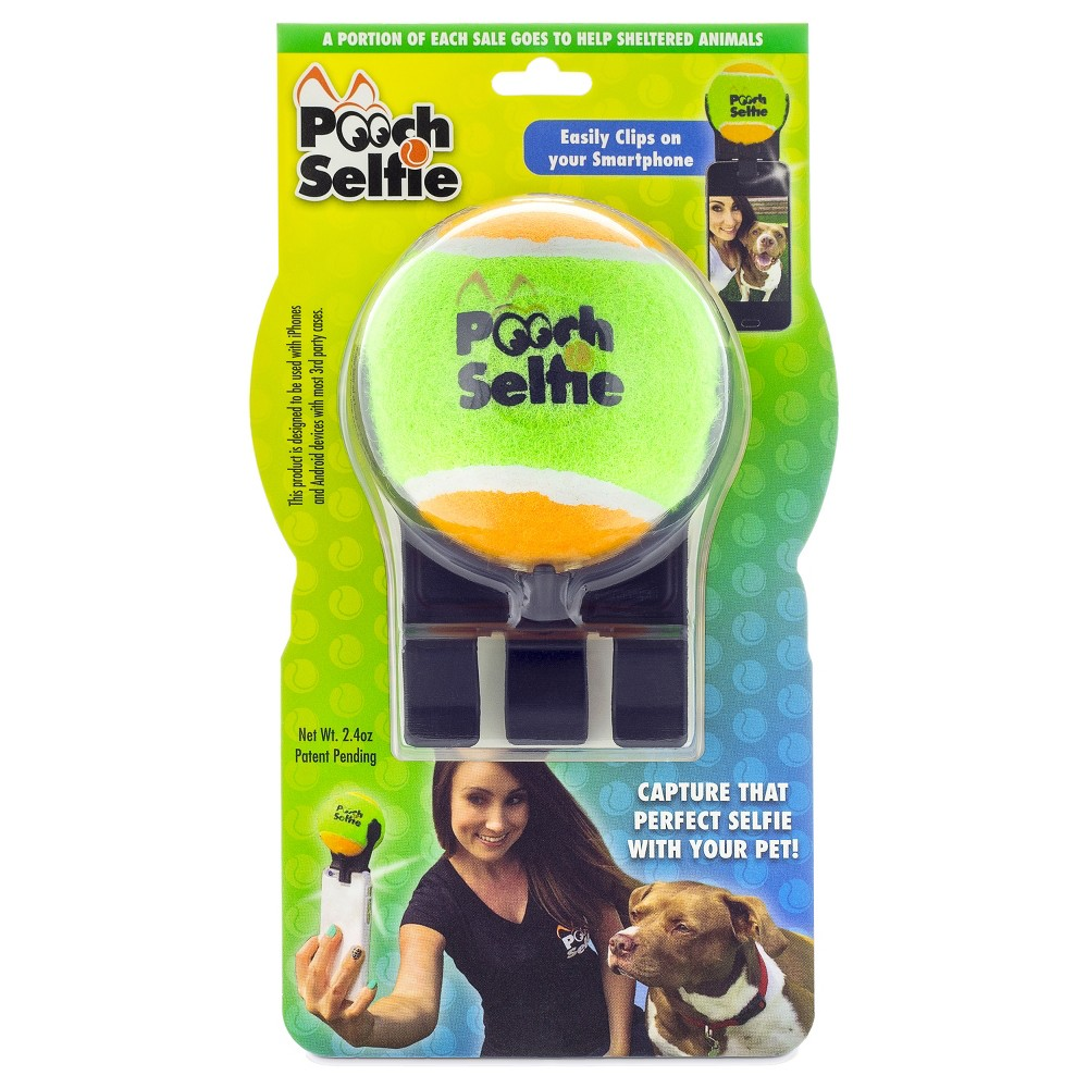 Pooch - Dog Selfie Photo - Tennis Ball Phone Accessory - Orange