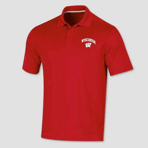 Wisconsin Badgers Men's Short Sleeve Game Day Polo Shirt - image 1 of 1