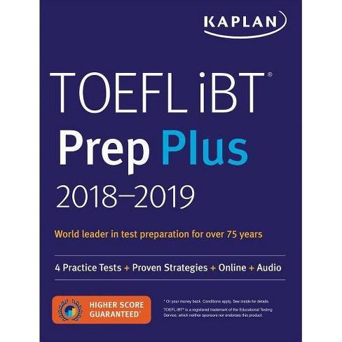TOEFL IBT Prep Plus 2018-2019 - (Kaplan Test Prep) (Paperback) - image 1 of 1
