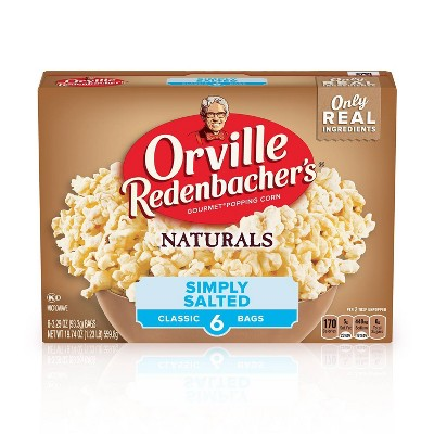 Orville Redenbacher's Natural Simply Salted Microwave Popcorn - 6ct