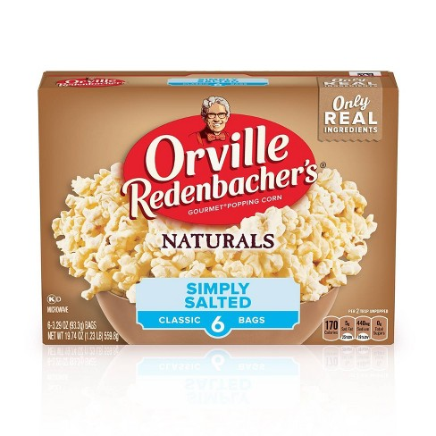 Orville Redenbacher's Natural Simply Salted Classic Bag Of Gourmet Popcorn - 6ct - image 1 of 4