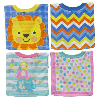 Neat Solution, 2 PK Char Towel Bib, Boy/Girl