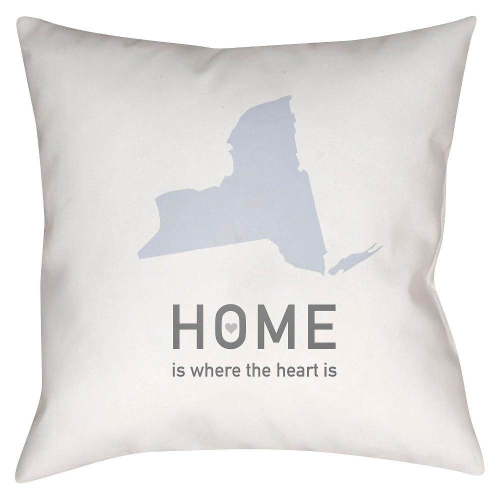 White Homebound New York Throw Pillow 18