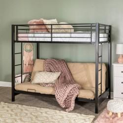Kids Twin over Futon Bunk Bed Metal - Saracina Home