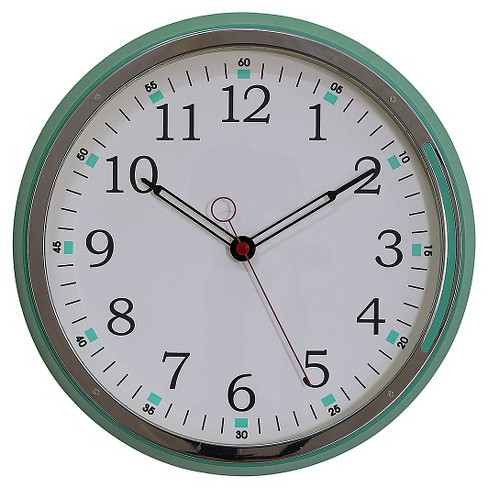 "15"" Round Wall Clock Aqua - 3R Studios® - image 1 of 2"