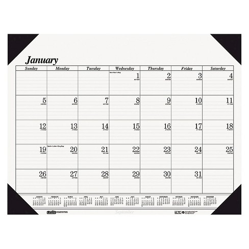 House of Doolittle™ Recycled One-Color Refillable Monthly Desk Pad Calendar 22 x 17 2018 - image 1 of 1