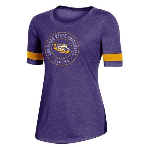 NCAA LSU Tigers Women's Short Sleeve Crew Neck T-Shirt - image 1 of 2