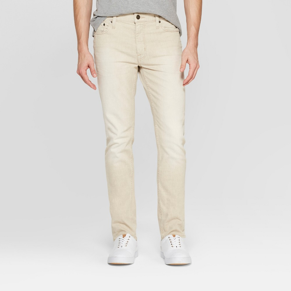 Men's Slim Fit Jeans - Goodfellow & Co Khaki 32x32, Beige