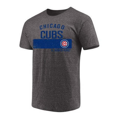 half off 25c30 0643f MLB Chicago Cubs Men's Neutralize Gray Triblend T-Shirt