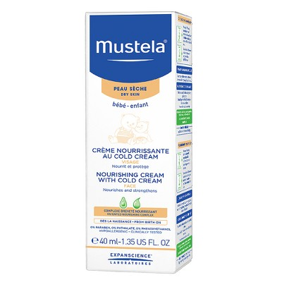 Mustela Nourishing Baby Face Cream Moisturizing Baby Lotion for Dry Skin -  1.35 fl oz