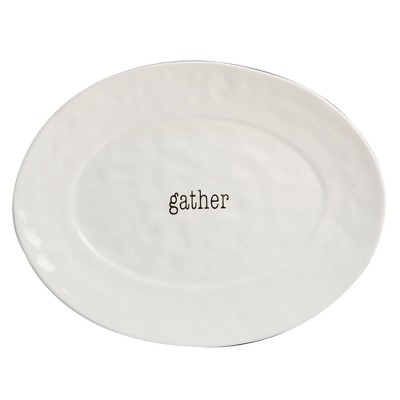 Certified International It's Just Words Oval Ceramic Serving Platter 12  x 16  - White