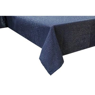 "60"" x 84"" Lurex Tablecloth Navy - Threshold™"