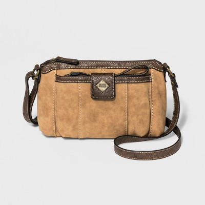 Bolo Zip Closure Montville Crossbody Bag with Wristlet - Leather