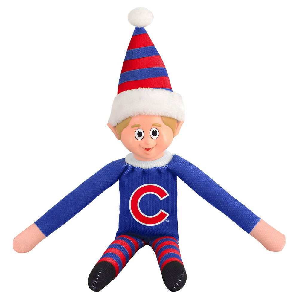 Forever Collectibles Chicago Cubs Elf Forever Collectibles - MLB Team Elf, Chicago Cubs - This Forever Collectibles Team Elf with provide hours of joy and holiday cheer for all. This officially licensed elf is sporting your favorite team's logo on his sweatshirt and a Santa hat for the season. Start a new tradition this year with your 2015 team elf! Age - 3 and up. Team elf is approximately 14 inches tall.