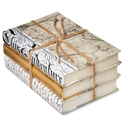 Gold Mix Decorative Book Set of 3