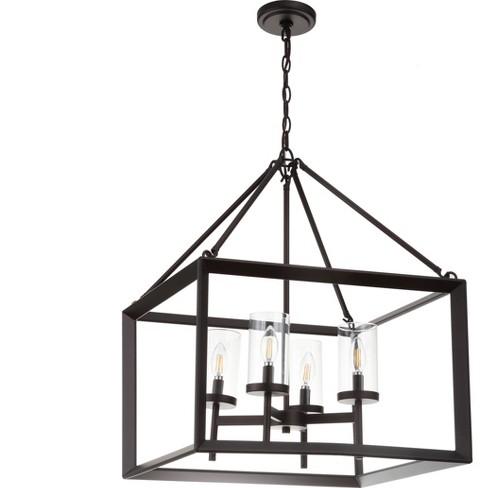 Anna Metal/Glass LED Pendant Ceiling Light Bronze - JONATHAN Y - image 1 of 4