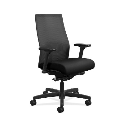 Ignition 2.0 Mid Back Adjustable Lumbar Office Chair Black - HON