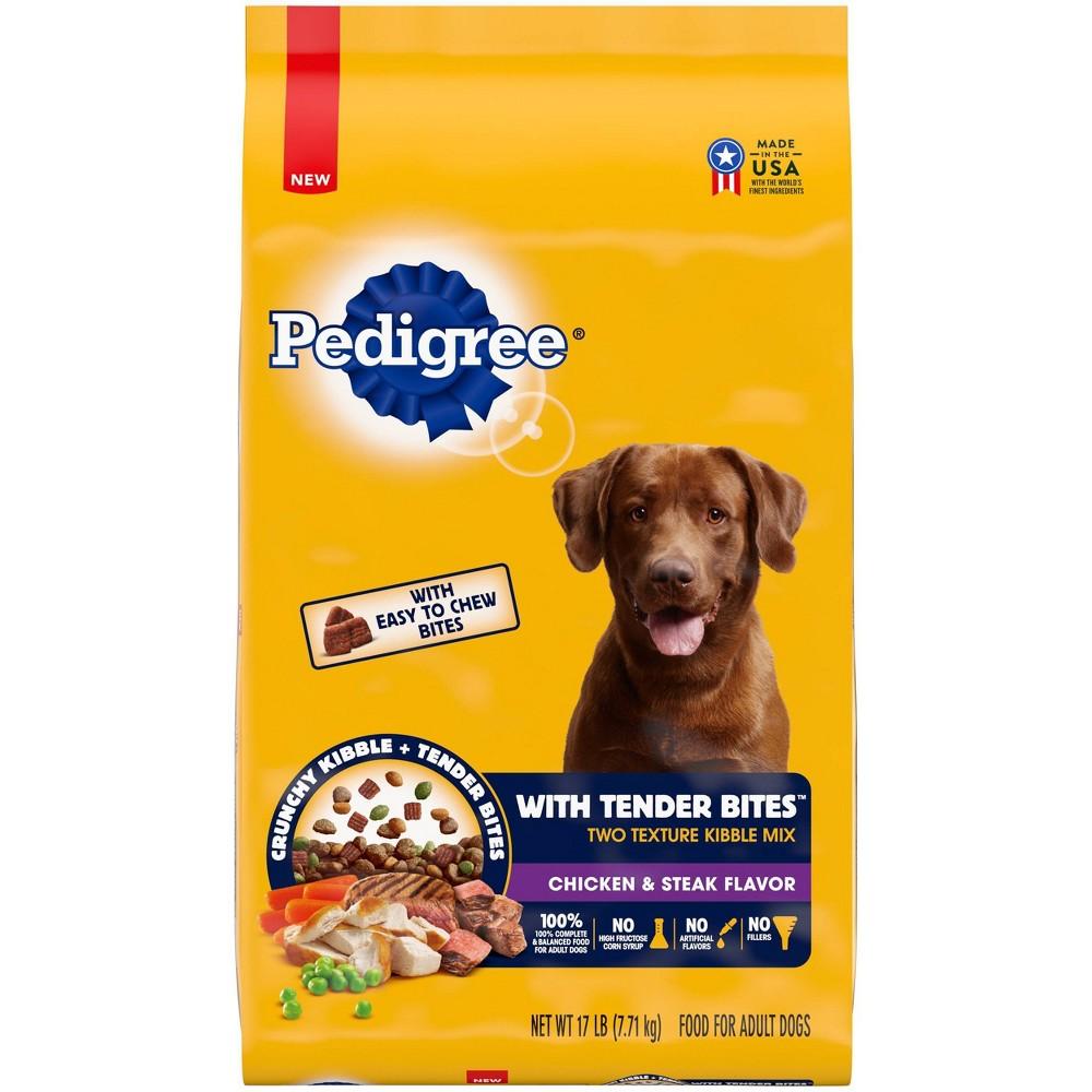Pedigree Tender Bites Chicken And Steak Flavor Dry Dog Food 17lbs