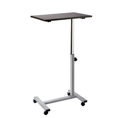 "23.6"" Overbed Adjustable Height Mobile Side Table Cart - Seville Classics"