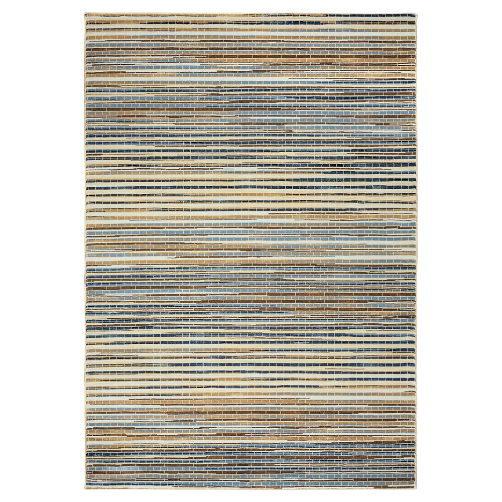 Rizzy Home Bennington Collection Area Rug - Multi-colored Stripes (5'3