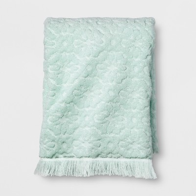 Perfectly Soft Embossed Bath Towel Vapor Green - Opalhouse™