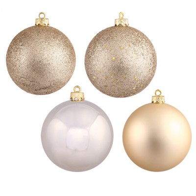 Vickerman 2.4  Champagne 4-Finish Ball Christmas Ornament, 24 per Box