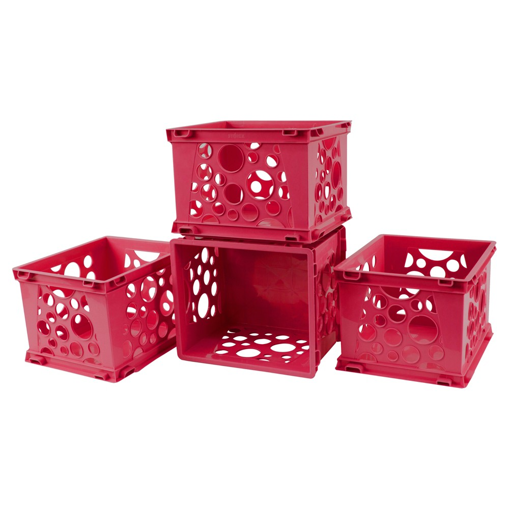 Storex Mini Crates 18ct - Red